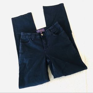 NYDJ Straight Dark Wash Blue Jeans 2